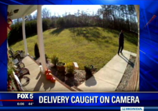 La Plata Home Security Camera Catches FedEx Throwing Package 20 Feet Onto Porch!