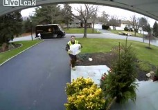 UPS Delivery Driver Raises Middle Finger to Video Camera