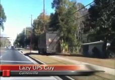 """Lazy UPS Guy"" Drives on the Sidewalk to Deliver Packages"