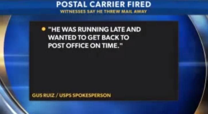 USPS Carrier Throws Obamacare Pamphlets into Trash