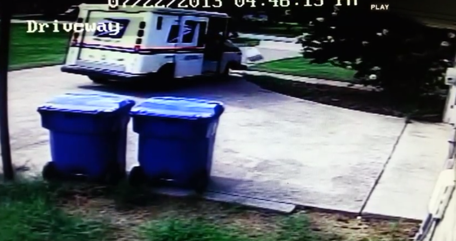 USPS Throws Package Into Dirt