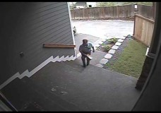 USPS Throws a Package Up Some Stairs