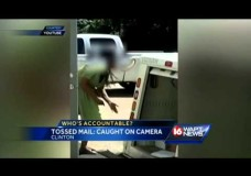 USPS Supervisor Throws Packages Into the Back of Mail Truck in Clinton Mississippi