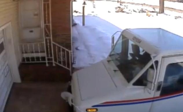 Postal Worker Throws Package Onto Doorstep