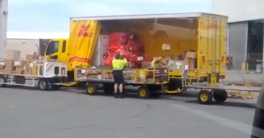DHL Throwing Boxes