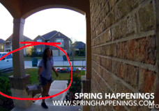 Lazy USPS Worker Throws Package Onto Porch, Spring, TX