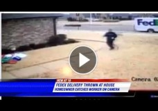FedEx Driver in Arlington, TN Tosses Package Against Suburban Memphis Door