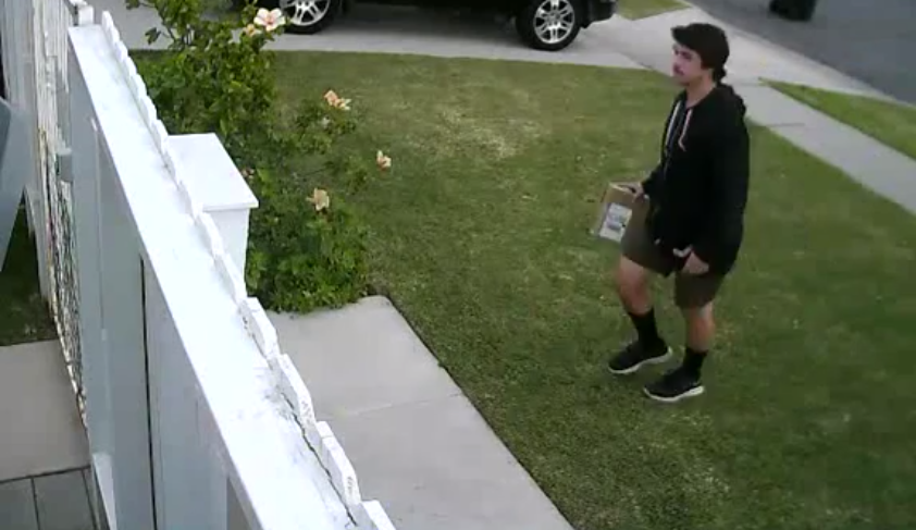 UPS Throws Package Over Fence