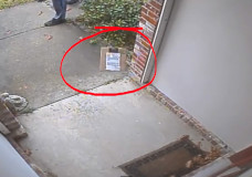 Caught:  USPS Carrier Throws a Package at Door (2 cameras)