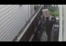 UPS Driver Throws Package Over Gate Then Urinates On Home