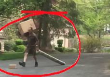 UPS Employee Kicking Package Down Driveway Serves As Delivery