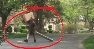 UPS Kicking Package Down Driveway